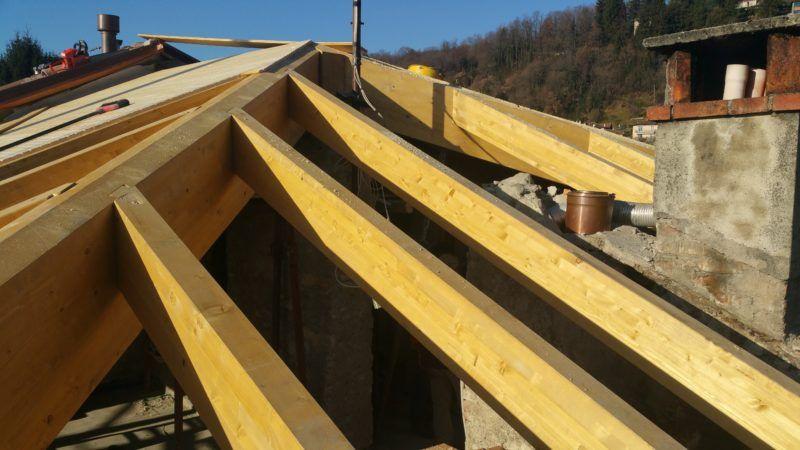 come costruire un tetto in legno