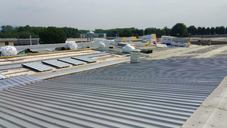 Rifacimento copertura capannone industriale Ronco Briantino (MB)