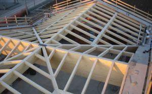 tetto in legno sezione