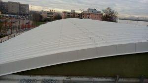 Rifacimento tetto industriale curvo Baranzate (MI)