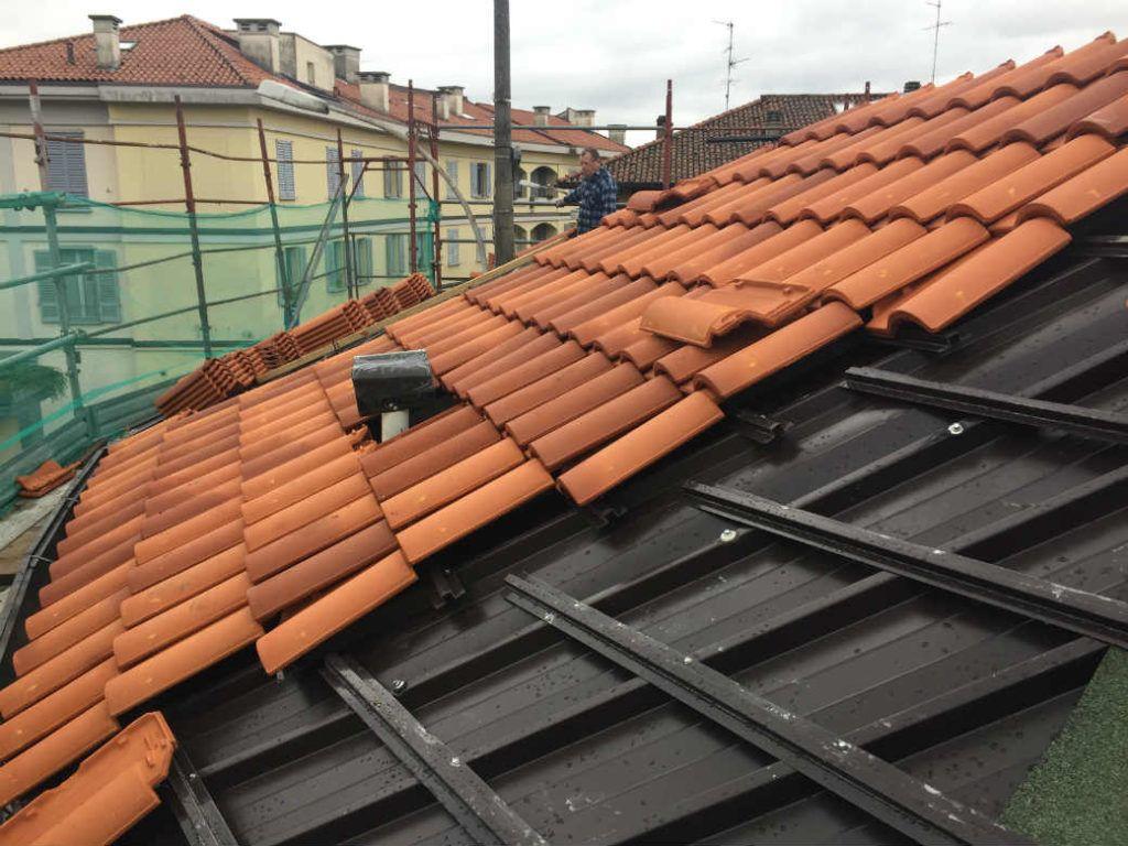 Rifacimento tetto con tegola portoghese Briosco (MB)