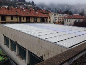 Rifacimento tetto palestra comunale Cernobbio (CO)
