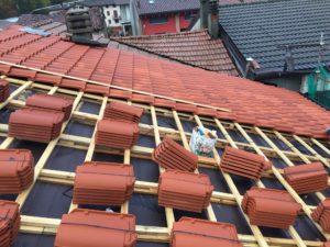 Stratigrafia tetto in legno